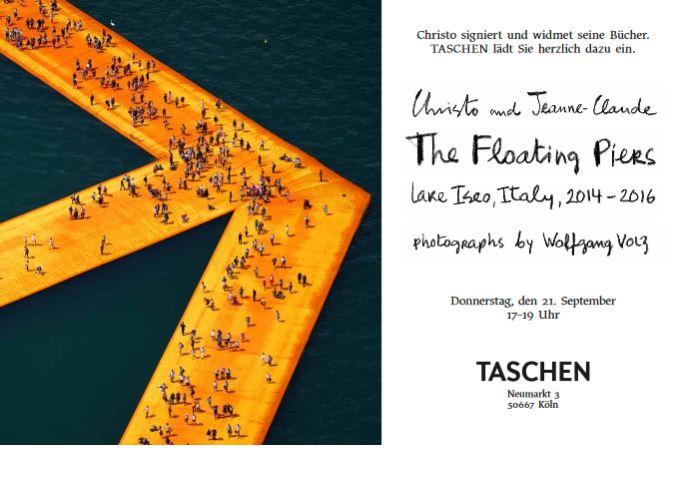 Verhüllungskünstler Christo signiert in Köln 21092017